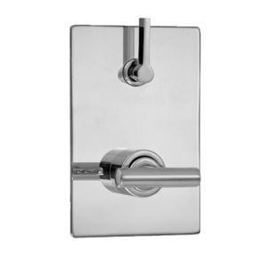 E-Mini Thermostatic - Integrated Rectangle Plate - Trim only with Ceres II handle