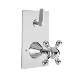E-Mini Thermostatic - Integrated Rectangle Plate - Trim only with Tremont X Handle