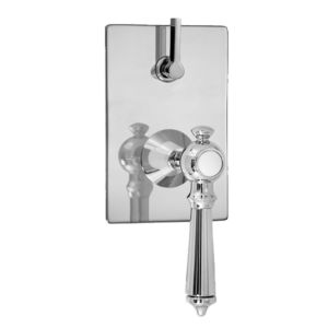 E-Mini Thermostatic - Integrated Rectangle Plate - Trim only with Ascot handle