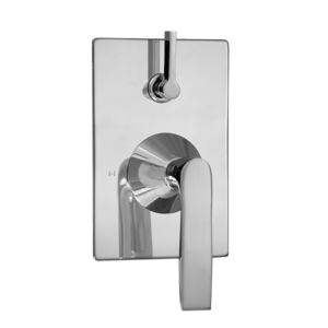 E-Mini Thermostatic - Integrated Rectangle Plate - Trim only with Lisse handle