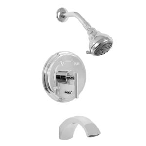 900 Series Pressure Balance Tub and Shower Set with Palermo Handle (available as trim only P/N: 1.904468T)