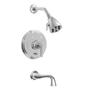 620 Series Pressure Balance Tub and Shower Set with Moderne Handle (available as trim only P/N: 1.629368T)