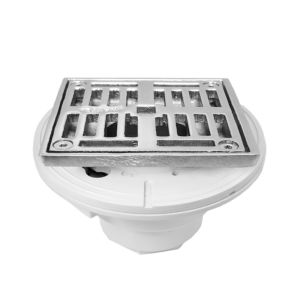 "4"" Square PVC Shower Drain"
