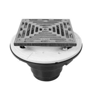"6"" Square ABS Shower Drain"