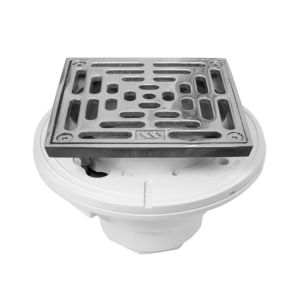 "6"" Square PVC Shower Drain"